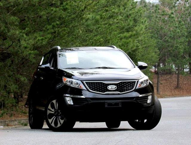 2011 KIA SPORTAGE SX 4DR SUV black over 13 service records in 5 years loaded with navi and panora