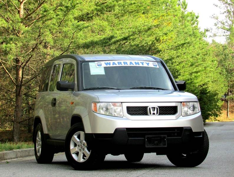2010 HONDA ELEMENT EX 4DR SUV 5M silver one owner ex silver in black interior never seen snow