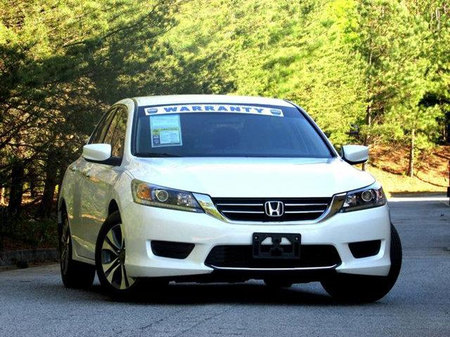 2013 HONDA ACCORD LX 4DR SEDAN CVT white never seen snow with abs 4 wheel fuel economy dual cl