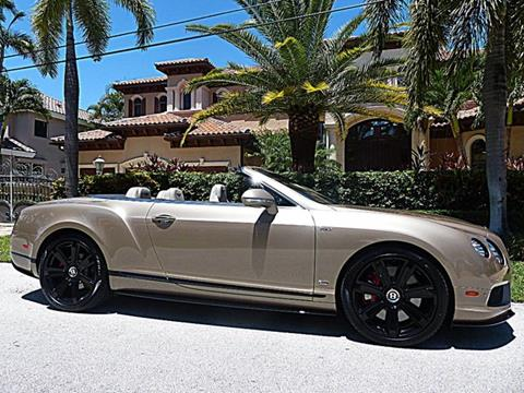 2015 Bentley Continental GTC V8 S for sale in Pompano Beach, FL