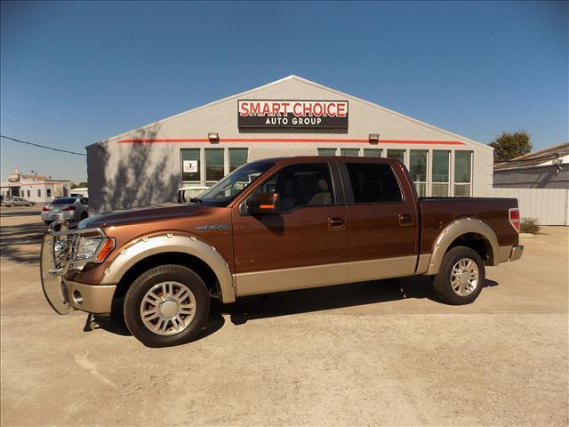 2011 FORD F-150 LARIAT SUPERCREW 55-FT BED 2WD tan abs brakesadjustable foot pedalsair condit