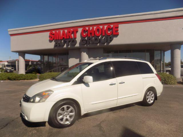 2007 NISSAN QUEST 35 4DR MINI VAN white abs brakesair conditioningamfm radiocargo area tiedo