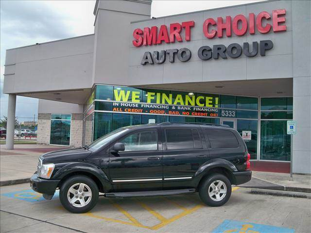 2004 DODGE DURANGO LIMITED black options abs brakesadjustable foot pedalsair conditioningalloy w