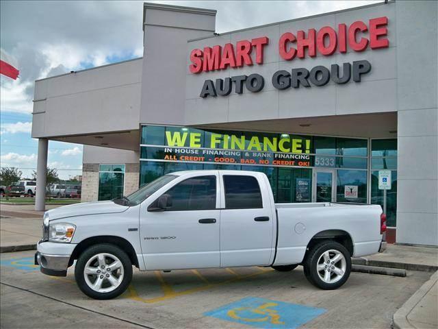 2007 DODGE RAM PICKUP 1500 2WD QUAD CAB bright white options abs brakesair conditioningamfm rad