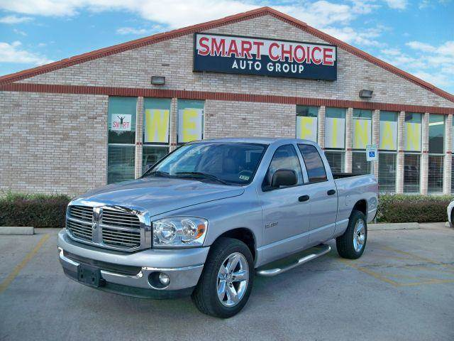 2008 DODGE RAM PICKUP 1500 2WD QUAD CAB bright silver metallic options abs brakesair conditionin