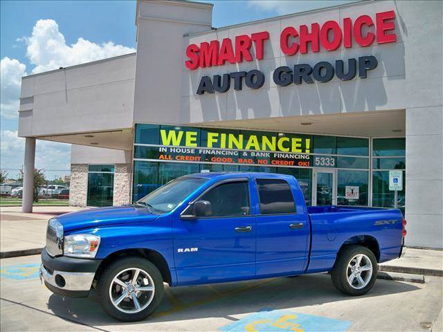 2008 DODGE RAM PICKUP 1500 2WD QUAD CAB blue options abs brakesair conditioningalloy wheelsamfm