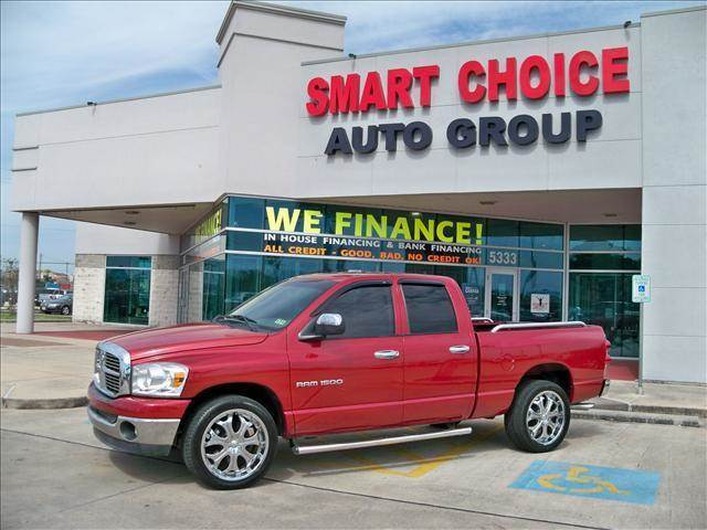 2007 DODGE RAM PICKUP 1500 ST SPORT SLT TRX4 OFF ROAD L red abs brakesair conditioningalloy