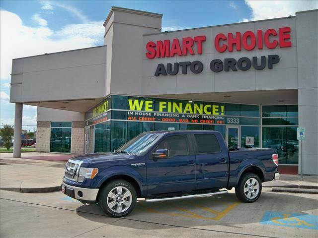 2010 FORD F-150 2WD SUPERCREW blue options abs brakesadjustable foot pedalsair conditioningalloy