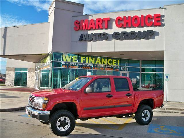 2007 GMC CANYON 4WD CREW CAB 1260 red options 4wdawdabs brakesair conditioningalloy wheelsamf