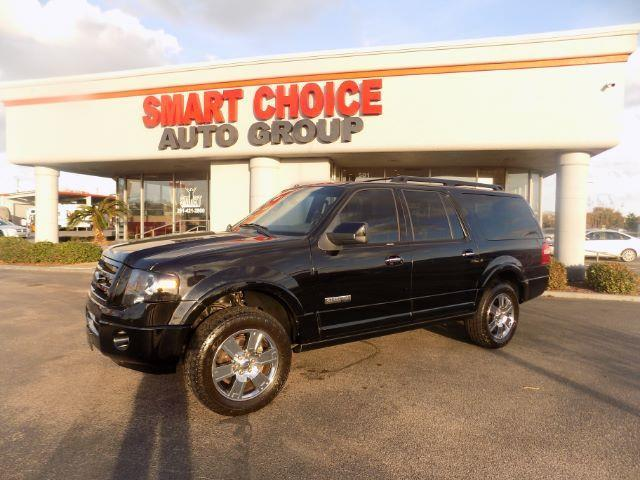 2008 FORD EXPEDITION EL LIMITED 4X4 4DR SUV black 4wdawdabs brakesadjustable foot pedalsair c