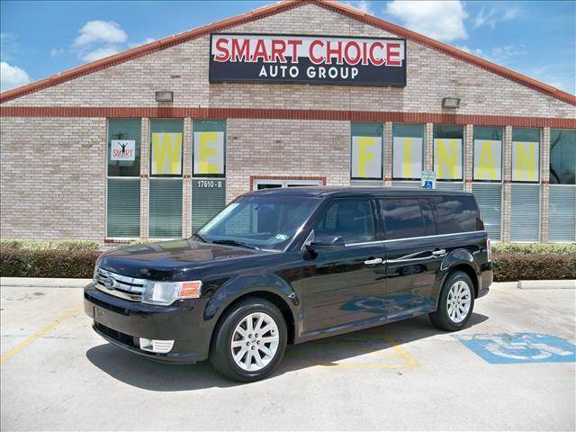 2009 FORD FLEX SEL FWD black options abs brakesair conditioningalloy wheelsamfm radioautomatic