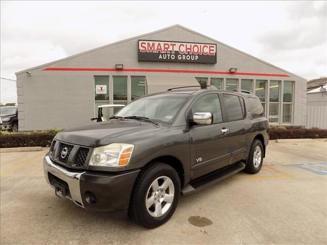 2006 NISSAN ARMADA LE 2WD gray abs brakesadjustable foot pedalsair conditioningalloy wheelsam