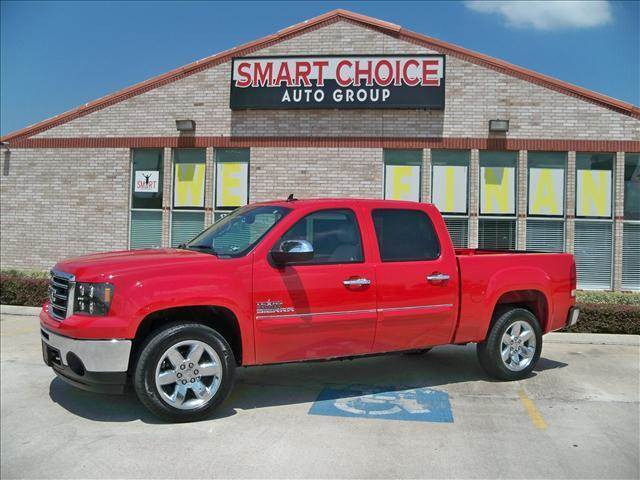 2012 GMC SIERRA 1500 CREW CAB SHORT BOX 2-WHEEL DRI fire red options abs brakesair conditioninga