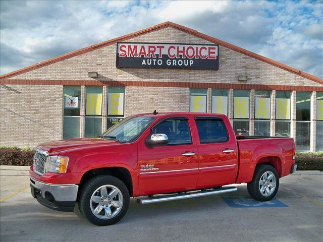 2013 GMC SIERRA 1500 CREW CAB SHORT BOX 2-WHEEL DRI red options abs brakesair conditioningamfm
