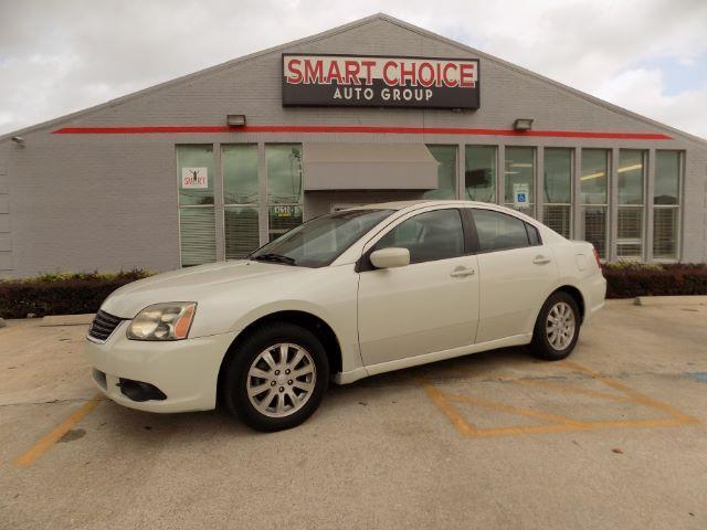 2009 MITSUBISHI GALANT ES 4DR SEDAN white air conditioningamfm radioautomatic headlightscd pl