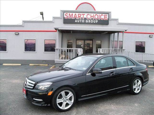 2011 MERCEDES-BENZ C-CLASS black abs brakesair conditioningalloy wheelsamfm radioautomatic h
