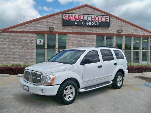 2004 DODGE DURANGO LIMITED 4DR SUV white running boards special factory paint front air conditi