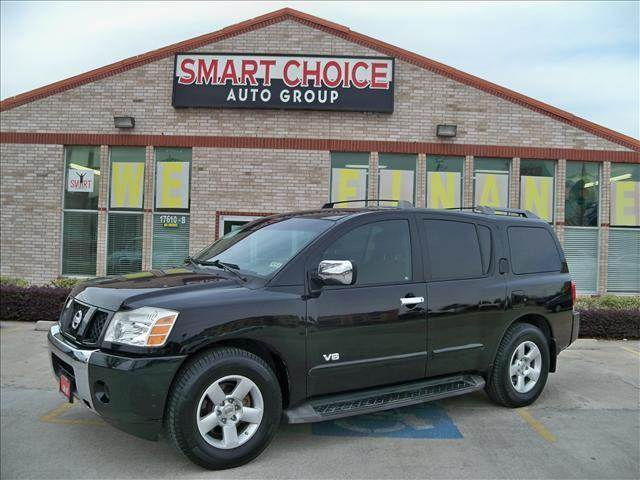 2006 NISSAN ARMADA 2WD galaxy black metallic options abs brakesadjustable foot pedalsair conditi