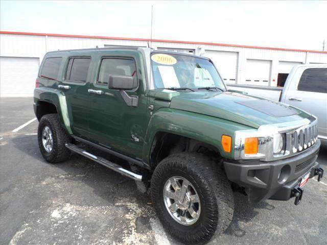 2006 HUMMER H3 BASE 4DR SUV 4WD green right now with 95 down with payments starting from as low