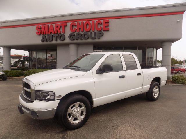 2003 DODGE RAM PICKUP 2500 SLT QUAD CAB LONG BE white 173592 miles VIN 3D7KA28D83G827744