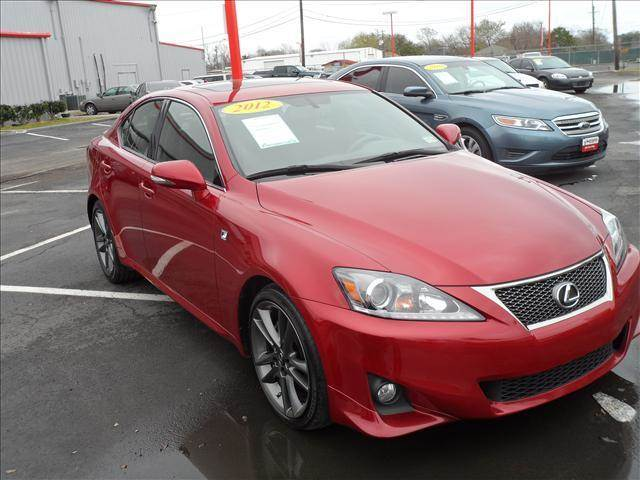 2012 LEXUS IS 250 red right now with 95 down with payments starting from as low as 440 call fo