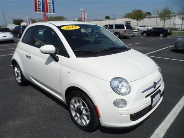 2013 FIAT 500 POP 2DR HATCHBACK white pushpullordrag --independence freedom sale--  declare