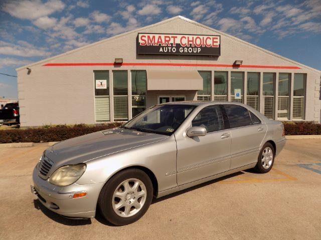 2001 MERCEDES-BENZ S-CLASS S430 4DR SEDAN designo silver metal front air conditioningfront air c