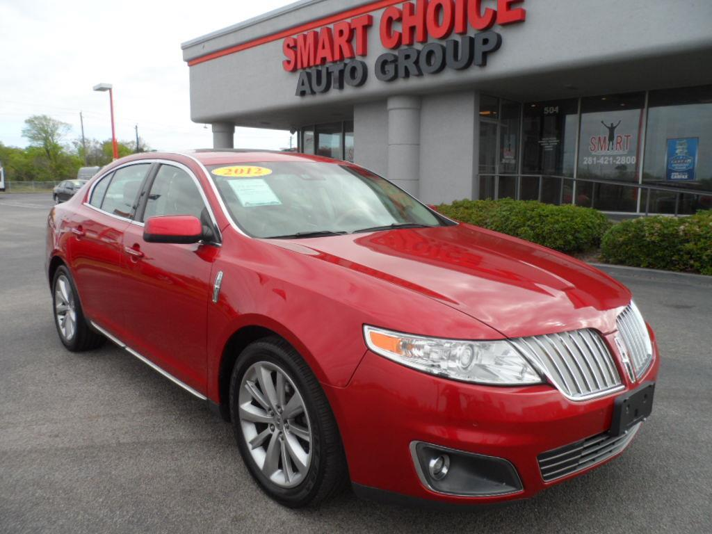 2012 LINCOLN MKS BASE 4DR SEDAN red laporte mitsubishi w in-house advantage also can put a positi