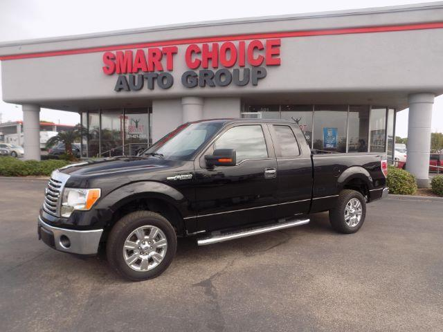 2011 FORD F-150 XLT SUPERCAB 65-FT BED 2WD black abs brakesair conditioningalloy wheelsamfm