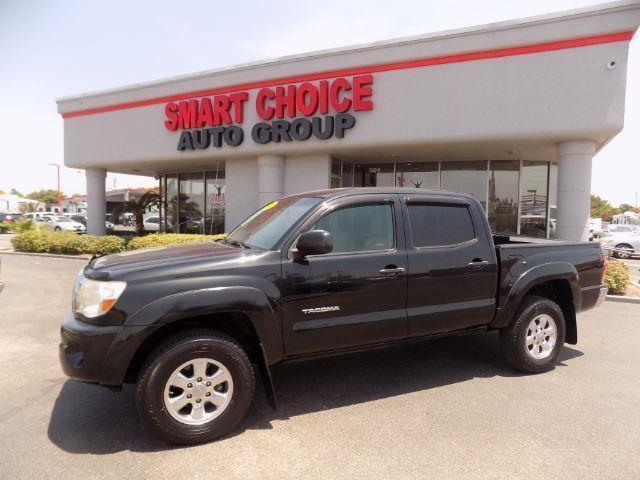 2008 TOYOTA TACOMA PRERUNNER V6 4X2 4DR DOUBLE CAB black follow the white rabbit --patriot sal