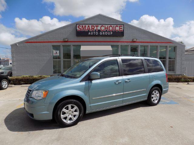 2010 CHRYSLER TOWN AND COUNTRY TOURING 4DR MINI VAN blue abs brakesadjustable foot pedalsair co