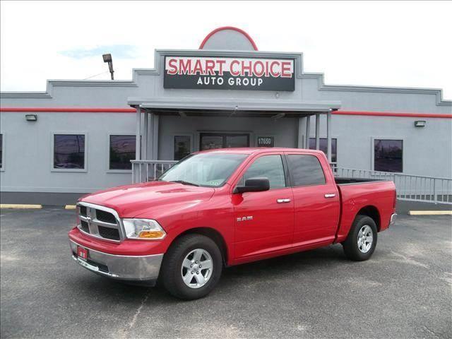 2010 DODGE RAM PICKUP 1500 red abs brakesair conditioningalloy wheelsamfm radioautomatic hea