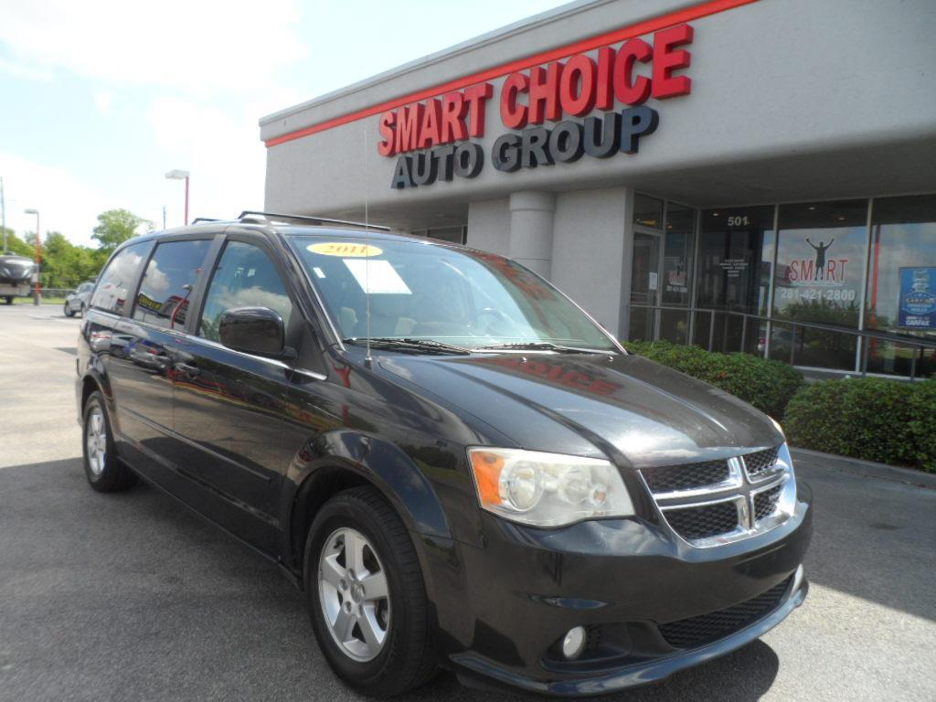 2011 DODGE GRAND CARAVAN CREW 4DR MINI VAN black laporte mitsubishi w in-house advantage also can