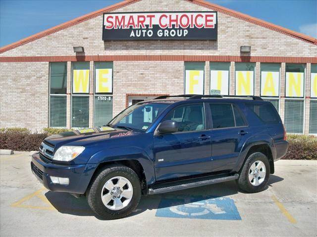 2005 TOYOTA 4RUNNER SR5 V6 AUTOMATIC blue options abs brakesair conditioningalloy wheelsamfm ra