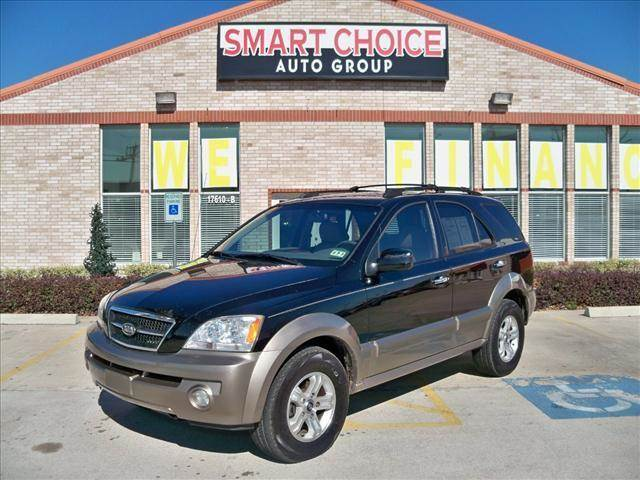 2004 KIA SORENTO EX 2WD black options air conditioningalloy wheelsamfm radioautomatic headlight