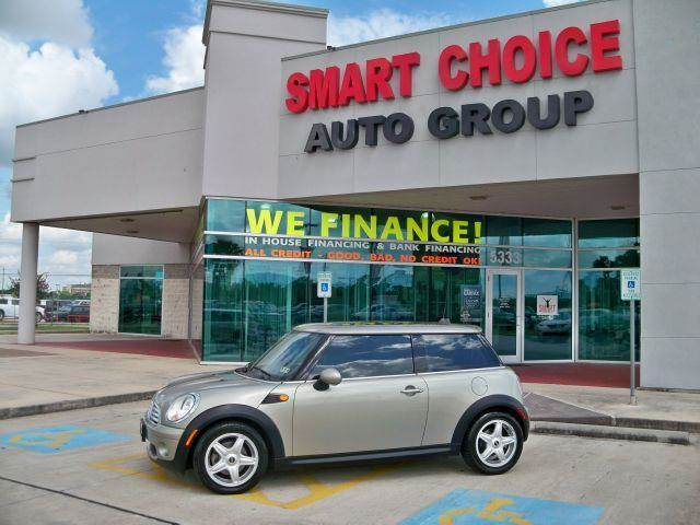 2007 MINI COOPER COUPE british racing green met options abs brakesair conditioningalloy wheelsam