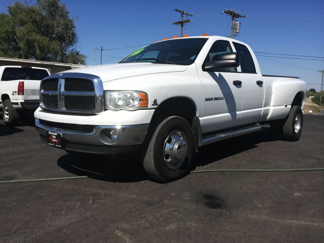2004 DODGE RAM PICKUP 3500 SLT 4DR QUAD CAB 4WD LB DRW white abs - 4-wheel axle ratio - 373 bum