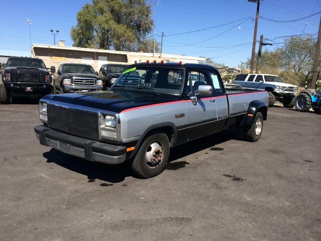 1992 DODGE RAM 350 LE 2DR TURBODIESEL EXTENDED CAB gray abs - rear-only bumper color - chrome ca