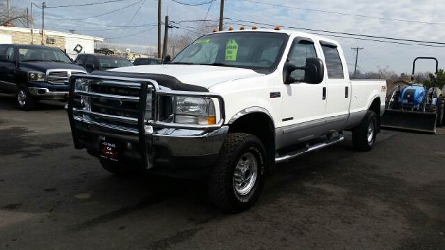 2003 FORD F-350 SUPER DUTY LARIAT 4DR CREW CAB 4WD LB white abs - 4-wheel anti-theft system - ala