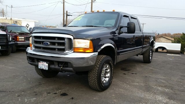 2000 FORD F-350 SUPER DUTY XLT 4DR 4WD CREW CAB LB dark blue abs - 4-wheel axle ratio - 373 bum