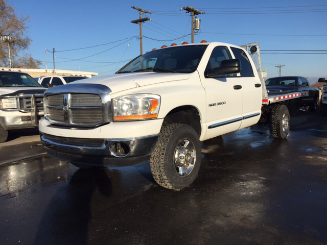 2006 DODGE RAM PICKUP 3500 LARAMIE 4DR QUAD CAB 4WD SB unspecified 4wd type - part time abs - 4-