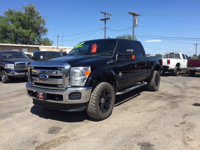 2011 FORD F-350 SUPER DUTY XLT 4X4 4DR CREW CAB 68 FT SB unspecified dpf delete leveled 20in