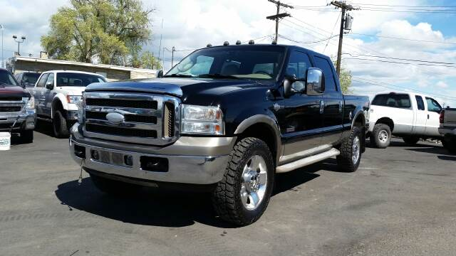 2006 FORD F-350 SUPER DUTY LARIAT 4DR CREW CAB 4WD SB black 4wd type - part time abs - 4-wheel