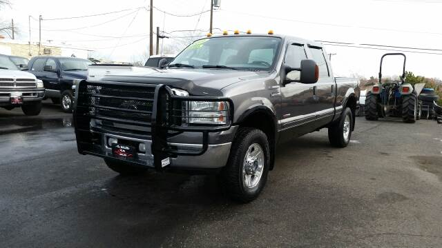 2006 FORD F-250 SUPER DUTY LARIAT 4DR CREW CAB 4WD SB charcoal 4wd type - part time abs - 4-wheel