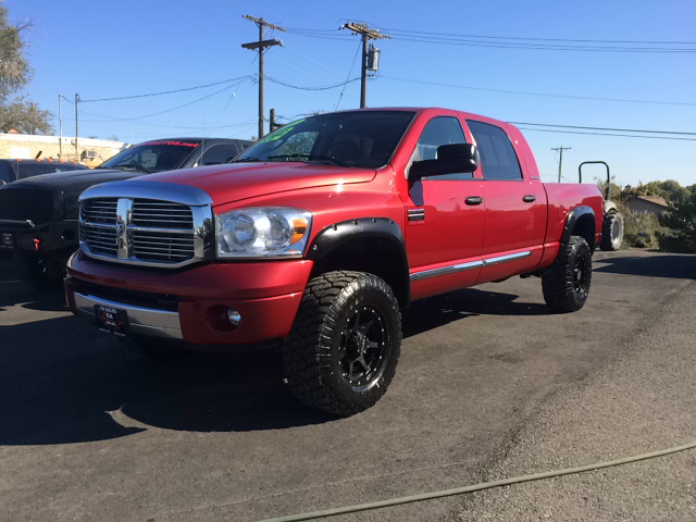 2007 DODGE RAM PICKUP 3500 LARAMIE 4X4 PICKUP CREW CAB inferno red 2-stage unlocking - remote 4wd