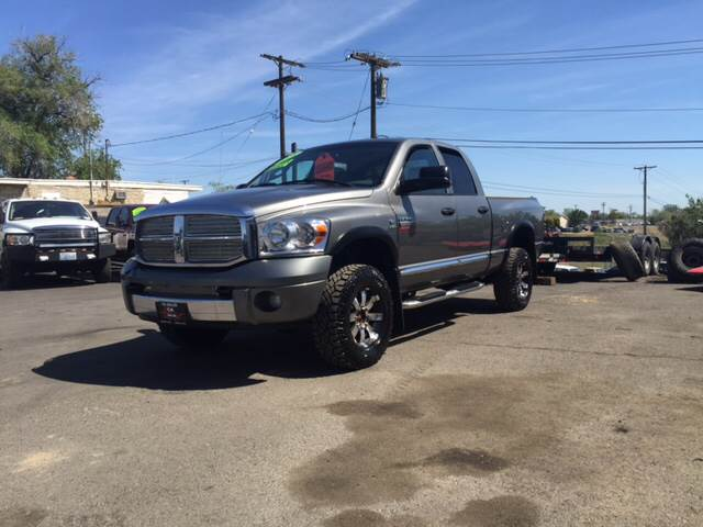 2008 DODGE RAM PICKUP 3500 LARAMIE 4DR QUAD CAB 4WD SB grey one owner custom wheels and tires d