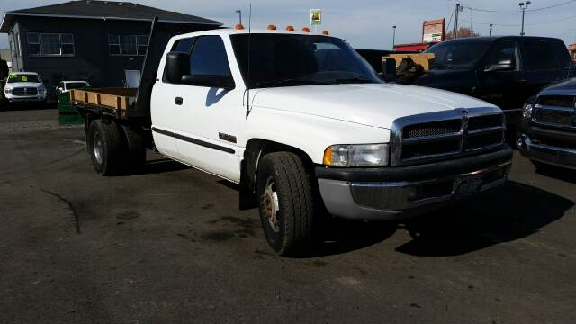1998 DODGE RAM PICKUP 3500 LARAMIE SLT 4DR EXTENDED CAB LB white abs - rear b
