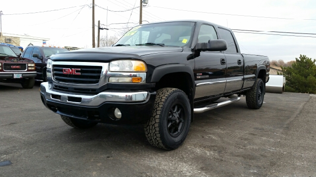 2005 GMC SIERRA 2500HD SLT 4DR CREW CAB 4WD LB black abs - 4-wheel anti-theft system - alarm axl