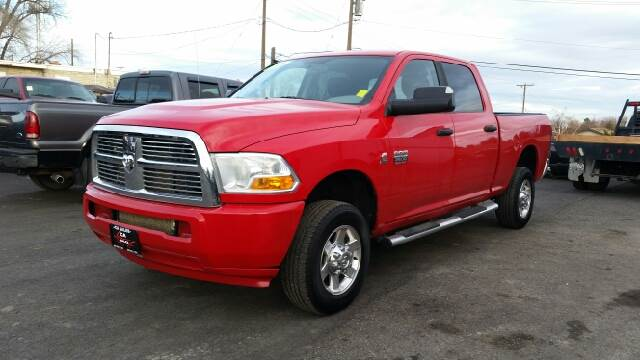 2010 DODGE RAM PICKUP 2500 SLT 4X4 4DR CREW CAB 63 FT SB red 4wd type - part time abs - 4-wheel
