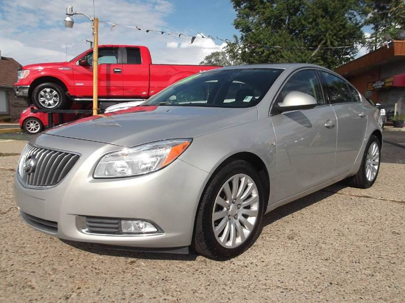 2011 BUICK REGAL CXL 4DR SEDAN WRL4 gold runs drives and looks great   clean in and out